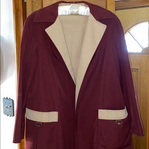 Etienne Aigner REVERSIBLE Trench Coat